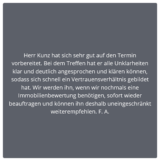 Bewertung Mehrfamilienhaus für 73614 Schorndorf
