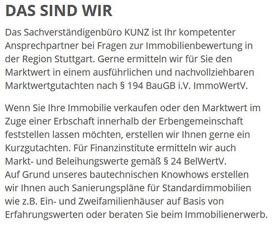 Immobilienbewertung, Wertgutachten aus  Stuttgart, Ostfildern, Filderstadt, Esslingen (Neckar), Korntal-Münchingen, Fellbach, Gerlingen und Leinfelden-Echterdingen, Ditzingen, Kornwestheim